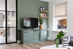 Living Room Green, Decoration, Interior And Exterior, Sweet Home, New Homes, Cabinet, Bedroom, House Styles, Storage