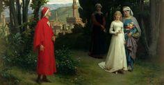 Raffaele Giannetti (1832-1916), Dante e Beatrice nel giardino di Boboli