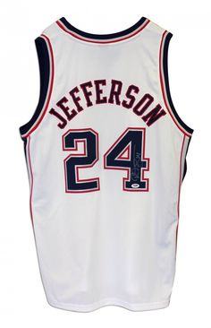 AAA Sports Memorabilia LLC - Richard Jefferson New Jersey Nets Autographed White Adidas Jersey, $239.95 (http://www.aaasportsmemorabilia.com/nba-memorabilia/new-jersey-nets/richard-jefferson/richard-jefferson-new-jersey-nets-autographed-white-adidas-jersey/)
