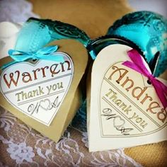 Heart shaped thank you gift box filled with a bride teddy and chocolate for the ladies and groom teddy and chocolate for the men