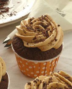 Cupcakes au chocolat et caramel au beurre salé