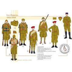 Les Zouaves, 1916-1918