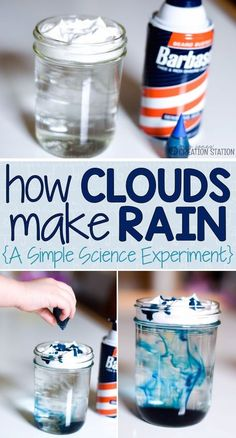 Simple Science Experiment: How Clouds Make Rain