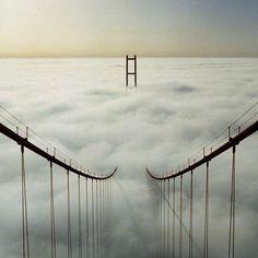 The Humber Bridge, The Humber Bridge, near Kingston upon Hull, England, is a 2,220 m single-span suspension bridge...Scary !!