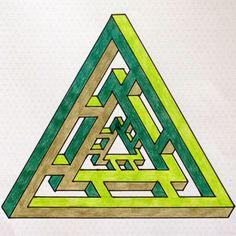 Escher triangle isometric