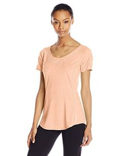 Merrell Womens Helio 20 Tee Peach Nectar Heather XSmall *** Want to know more, click on the image. (This is an affiliate link) #WomensOutdoorClothing