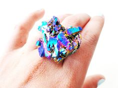 crazy crystal ring jewelry ring crystals boho natural druzy drusy crystal ring handmade jewelry