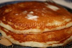 """Deep South Dish: The Best Homemade Buttermilk Pancakes. I'm always a little skeptical when someone calls a recipe """"the best..."""", but I have to say, these pancakes are AWESOME! I've made them twice now, and I don't think I'll ever buy another box of pancake mix again. Yes, they were THAT good, and they're pretty simple to make."""
