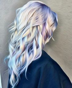 It is the beautiful hair that enhances the personality. And 2017 is the time of holographic hair. This talented hairstylist from Ross Michaels Hair Salon introduced this holographic hair color trend. Watercolour Hair, Watercolor Painting, Bold Hair Color, Weird Hair Colors, Awesome Hair Color, Cool Hair Colours, Unique Hair Color, Metallic Hair Color, Hair Goals Color