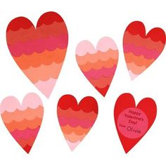 (a homemade version of this?) Ombré Valentine Hearts Kit