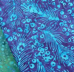 Anthology Batik Turquoise Peacock Feather Fabric Dressmaking Quilting Cushions | eBay
