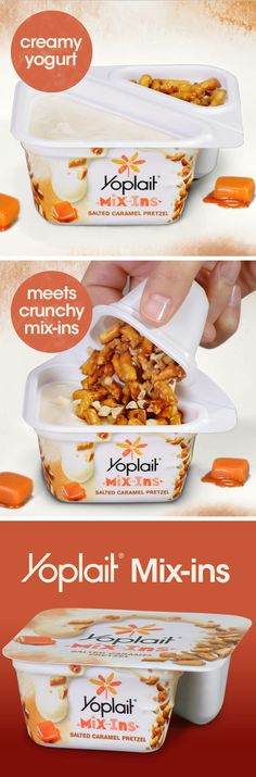 Introducing Yoplait Mix-Ins! Creamy Yoplait yogurt meets crunchy mix-ins available in six flavor combinations. Find your favorite!
