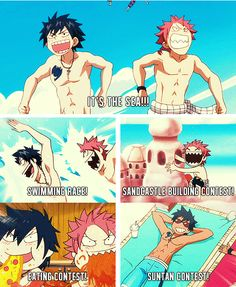 Fairy tail gray e natsu Fairy Tail Meme, Fairy Tail Gray, Fairy Tail Quotes, Fairy Tail Nalu, Fairy Tail Ships, Fairytail, Erza Et Jellal, Natsu Et Lucy, Zeref