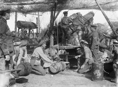A 12-inch howitzer of the Royal Garrison Artillery is prepared for action near Aveluy Wood, 26 September 1916.