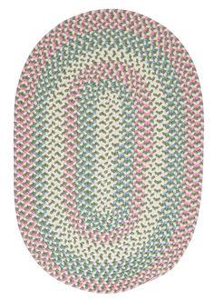 Carousel Bubble Green / Pink Area Rug