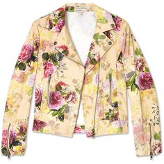 Paul & Joe Sister Ponpan Floral Biker Jacket ($371) ❤ liked on Polyvore