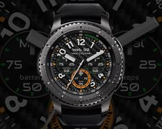 [Features] Battery indicator Step count Day display Heart rate display Always on mode Amazing Watches, Cool Watches, Watch Gears, Face Design, Watch Faces, Luxury Watches For Men, Turtles, Smart Watch, Battery Indicator
