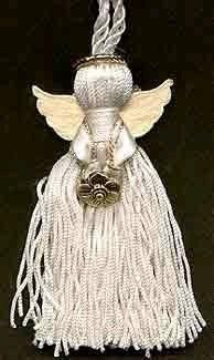 Ribbon and Tassel Angel Ornament.  this would a nice gift for officers or installing officers.