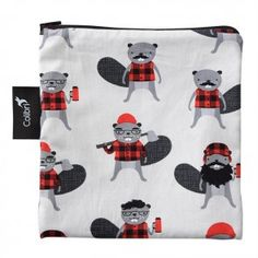 Colibri Reusable Snack Bag Large in Beavers - Colibri's Reusable Snack Bags are eco-friendly, practical and fun! Featuring a water resistant nylo Eco Kids, Sandwich Bags, Snack Bags, Reusable Bags, Large Bags, Baby Feeding, Beavers, Safe Food, Snacks