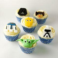 Cupcakes de Star Wars y, de paso, mi receta de Cupcakes de Chocolate
