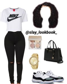 nike outfits for couples Swag Outfits For Girls, Boujee Outfits, Teenage Girl Outfits, Cute Outfits For School, Cute Casual Outfits, Teen Fashion Outfits, Sporty Outfits, Outfits With Jordans, Jeans Fashion