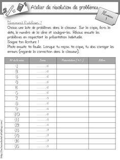 Atelier de résolution de problèmes  - la classe de stefany Cycle 3, School Organisation, Math 5, Class Activities, Mathematics, Kids Learning, Homeschool, Language, Classroom