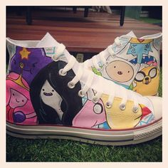 Adventure Time Custom Converse by VeryBadThing.deviantart.com on @deviantART