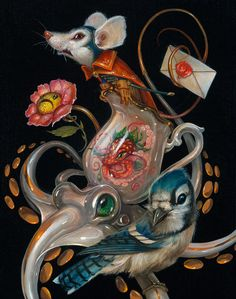 Salt. Fantastical Surreal Paintings Full of Details. See more art and information about Greg Simkins, Press the Image.