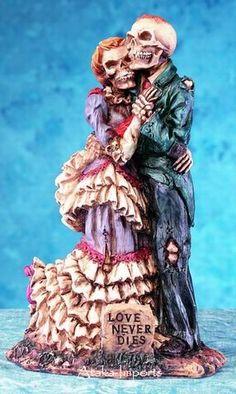 halloween wedding cake toppers | HALLOWEEN WEDDING CAKE TOPPER #4-SKELETONS COUPLE (5166) 86
