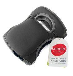 Purple Garden Knee Pads with Velcro Strap