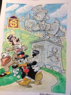 "Donald Duck - ""Un monumento celebrativo al migliore"" - - Catawiki Illustrations And Posters, Donald Duck, Friends, Disney, Painting, Amigos, Illustrations Posters, Painting Art, Paintings"