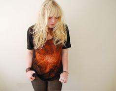 ::: OutsaPop Trashion ::: DIY fashion by Outi Pyy :::: DIY tutorial - galaxy bleach t-shirt