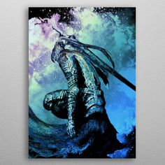 "Beautiful ""Soul of Artorias"" metal poster created by Donnie . Our Displate metal prints will make your walls awesome. My Poster Wall, Poster Prints, Art Prints, Gaming Posters, Cool Posters, Poster Making, Blade Runner, Dark Souls, Beautiful Soul"