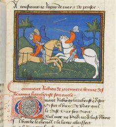 Vers 1405. Chronique de Bertrand du Guesclin en prose - Roman d'Ogier le Danois. De folio 1 a 63 : Chronique de Bertrand du Guesclin