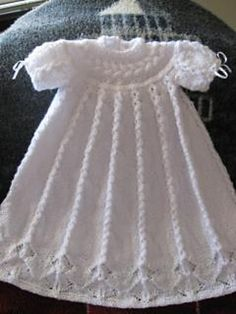 Ravelry: Cabled Yoke Christening Gown by Judy Lamb