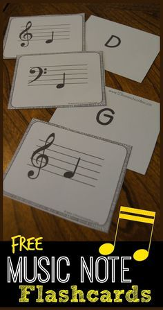 FREE Music Note Flashcards - such a great tool in helping kids gain fluency while learning music theory for music education, playing piano, learning and instrument and more in kindergarten, 1st grade, 2nd grade, 3rd grade, 4th grade, 5th grade #LearnPianoOnline