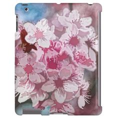 Cherry Blossom Flowers case mate iPad case