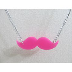 Markiplier Warfstache Pink Mustache Necklace 21in ($7.81) ❤ liked on Polyvore featuring jewelry, necklaces, mustache jewelry, pink chain necklace, chain necklace, moustache jewelry and long necklaces