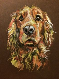 Day #74 - Pastel on card by Lucy Wilson, New Zealand. www.lucywilson-artist.com
