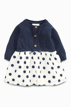 Kaufen Sie Strick-Kleid mit Punkten in Marineblau (0 Monate – 2 Jahre) heute online bei Next: Deutschland