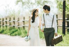Romantic Korea Pre-Wedding Photography in the Studio and Park by Henshe Snap on OneThreeOneFour 0