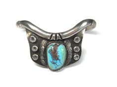 Vintage Native American Turquoise Feather by BejeweledEmporium