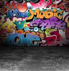 Graffiti-Wand für den städtischen Hintergrund Stockfoto