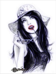 Sketches, Girly Art Illustrations, Drawing Illustrations, Girl Artist, Female Art, Art Girl, Flame Art, Mother Art, Beautiful Art
