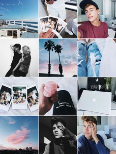 sunsets, cloudy whites, water-front blues | highlight pink, blues, and purples with faded filters.