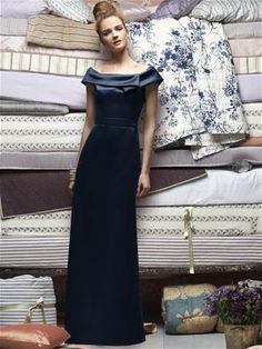 Lela Rose Bridesmaids Style LX156 midnight (front)