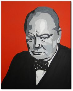 """An original painting... """"The Last Lion"""" is my personal nod to one of the greatest leaders of men that the world has ever seen... Winston Spencer Churchill!"""