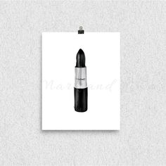 Makeup Illustration [Print], Tube of MAC Black Lipstick, Makeup Art, Wall Art, 8x10