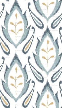 Autumn Ikat - Dusty Blue custom fabric by pattysloniger for sale on Spoonflower Motif Ikat, Ikat Pattern, Fabric Patterns, Pattern Design, Print Patterns, Aqua Fabric, Fabric Decor, Laundry Decor, Textiles