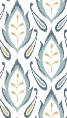 blue ikat from spoonflower